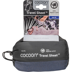 Cocoon TravelSheet - Drap de sac de couchage - Egyptian Cotton X-Large bleu